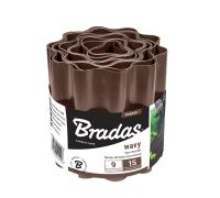 Бордюр садовый пластиковый Bradas 9м x 20см коричневый