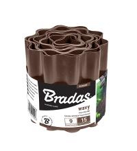 Бордюр садовый пластиковый Bradas 9м x 10см коричневый