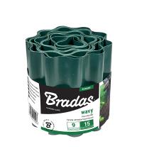 Бордюр садовый пластиковый Bradas 9м x 10см зеленый