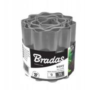 Бордюр садовый пластиковый Bradas 9м x 20см серый