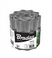 Бордюр садовый пластиковый Bradas 9м x 10см серый