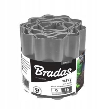 Бордюр садовый пластиковый Bradas 9м x 25см серый