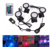 Подсветка пруда RGB четыре фонаря