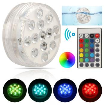 Подводный светильник на батарейках RGB