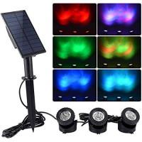 Светильники для пруда на солнечной батарее RGB 3 в 1